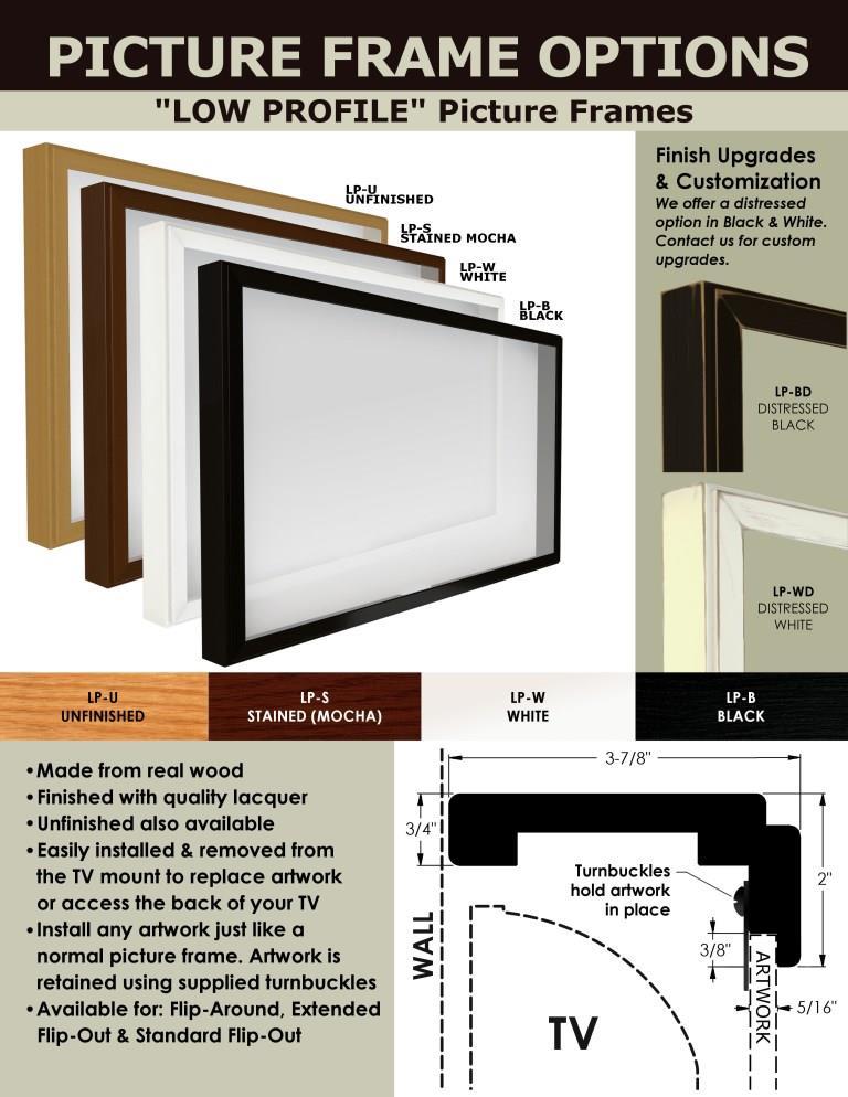 Flip-Around, Manual, w/ Picture Frame (TV Mount Non-Motorized)