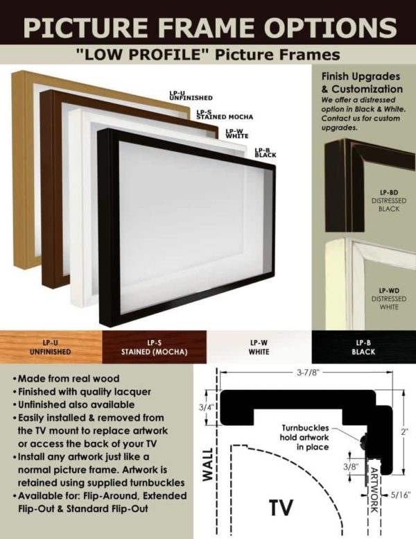 'M1' Extended Flip-Out Wall Mount w/ Picture Frame (Manual)-71