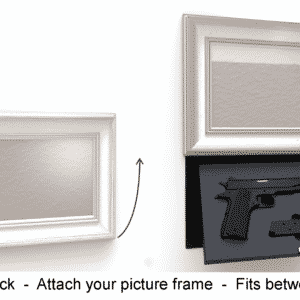 'M9' In-wall concealment - MANUAL w/ Hidden Lock-0