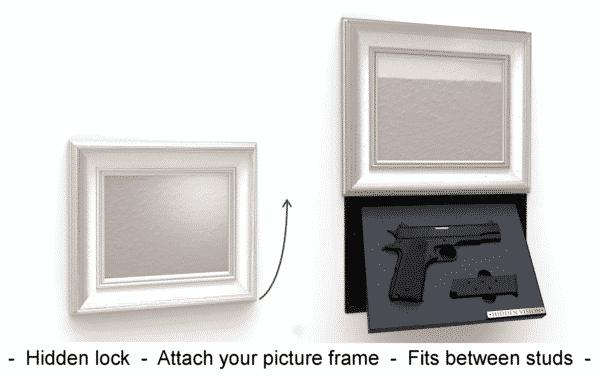 'M9' In-wall concealment - MANUAL w/ Hidden Lock-0