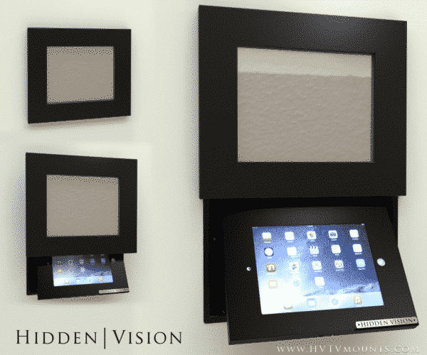 Showing optional tablet fixture. Contact us for more info