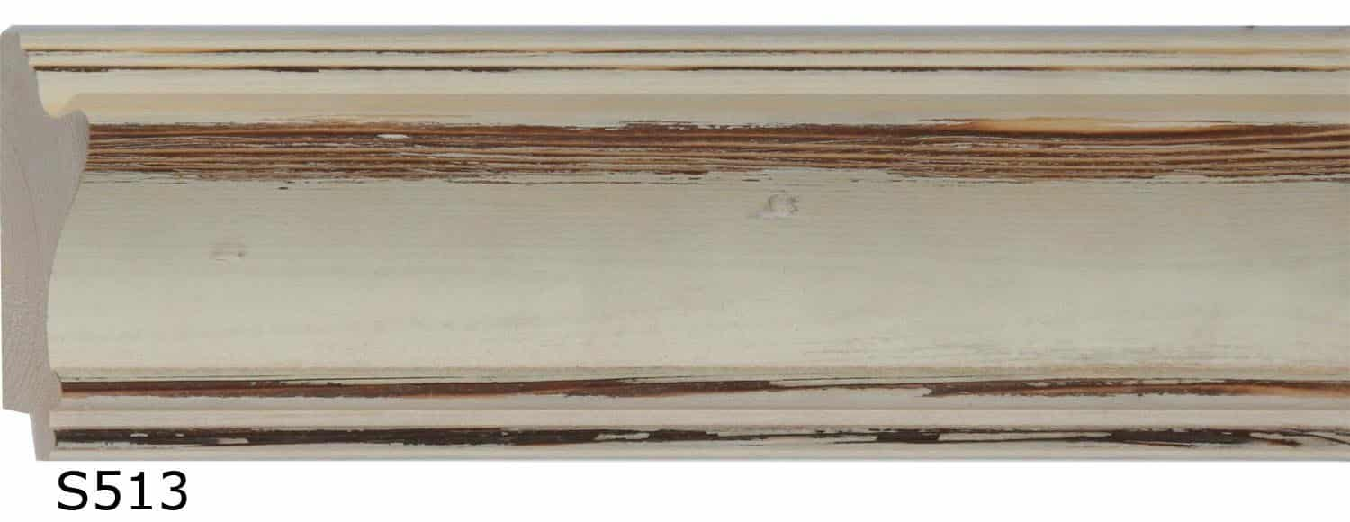 2 3/8 inch RUSTIC KNOTTY PINE WHITE