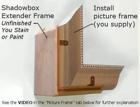 Shadowbox Extender Frame - Unfinished